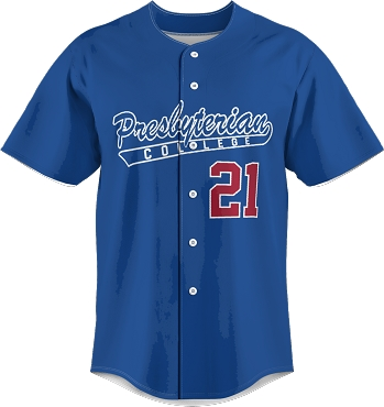 Full Button Presbyterian College Baseball Jersey