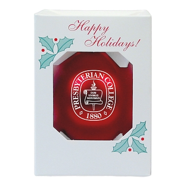 Christmas Ornament - Presbyterian College Seal - Red