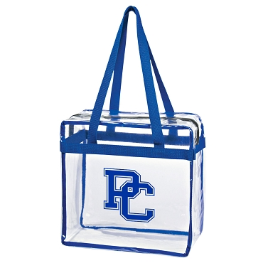 PC Clear Tote with Zipper