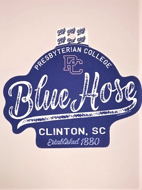 Presbyterian College Blue Hose Sticker - Large