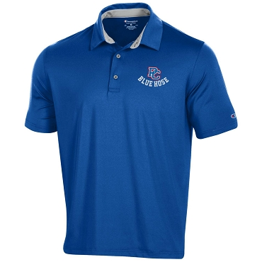 PC Blue Hose Solid Polo Shirt