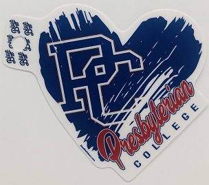 Presbyterian College Heart Sticker