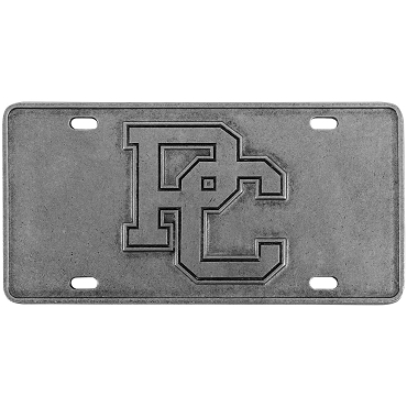 PC Pewter License Plate