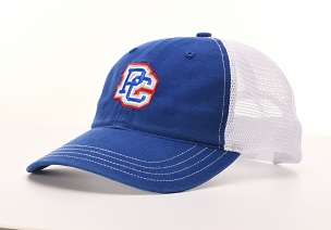 PC Garment Washed Trucker - Royal & White
