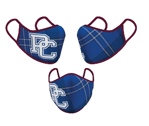 PC Blue Tartan Face Masks - L / XL