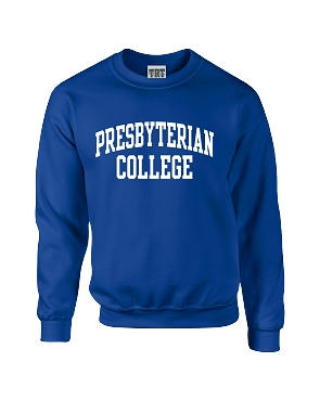 Presbyterian College Crew Sweatshirt - Royal