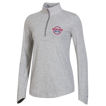 Women's Presbyterian College Field Day 1/4 Zip - Oxford Heather